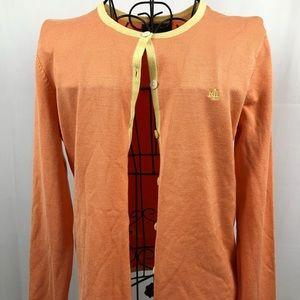 Ralph Lauren orange/yellow silk blend cardigan M